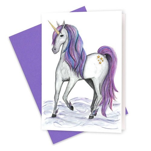 The guardian unicorn greeting card squid ink art prints the guardian unicorn greeting card m4hsunfo