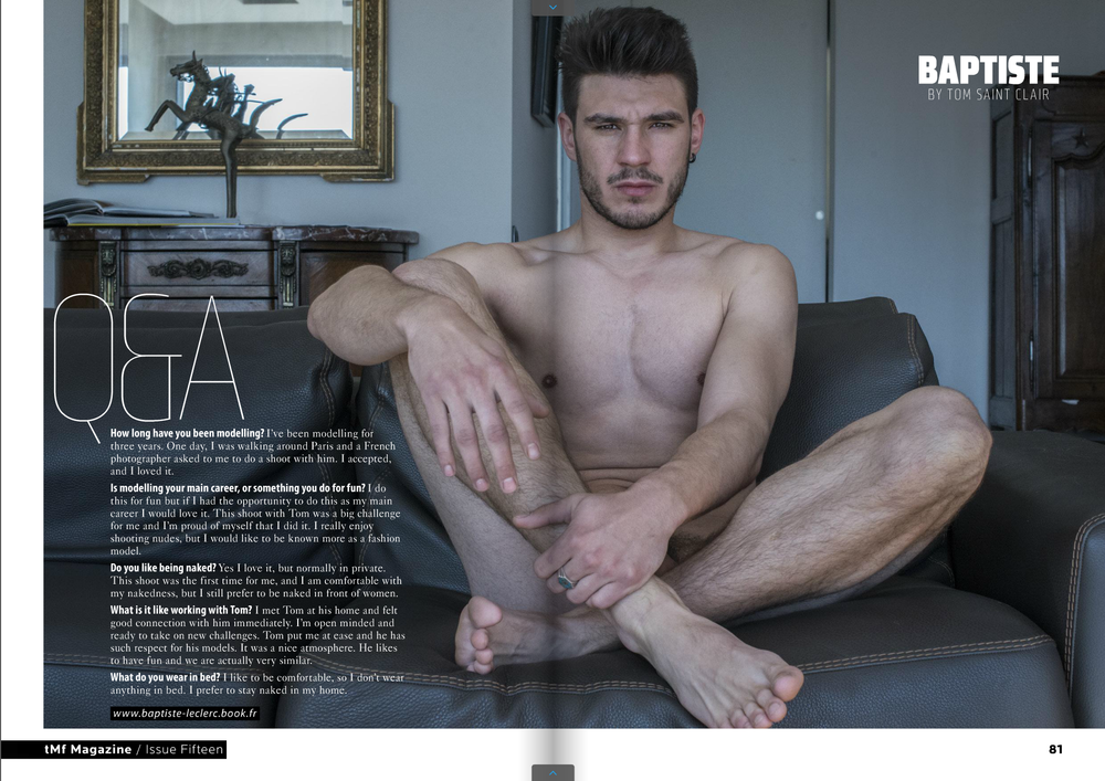 Tmf magazine male models frontal