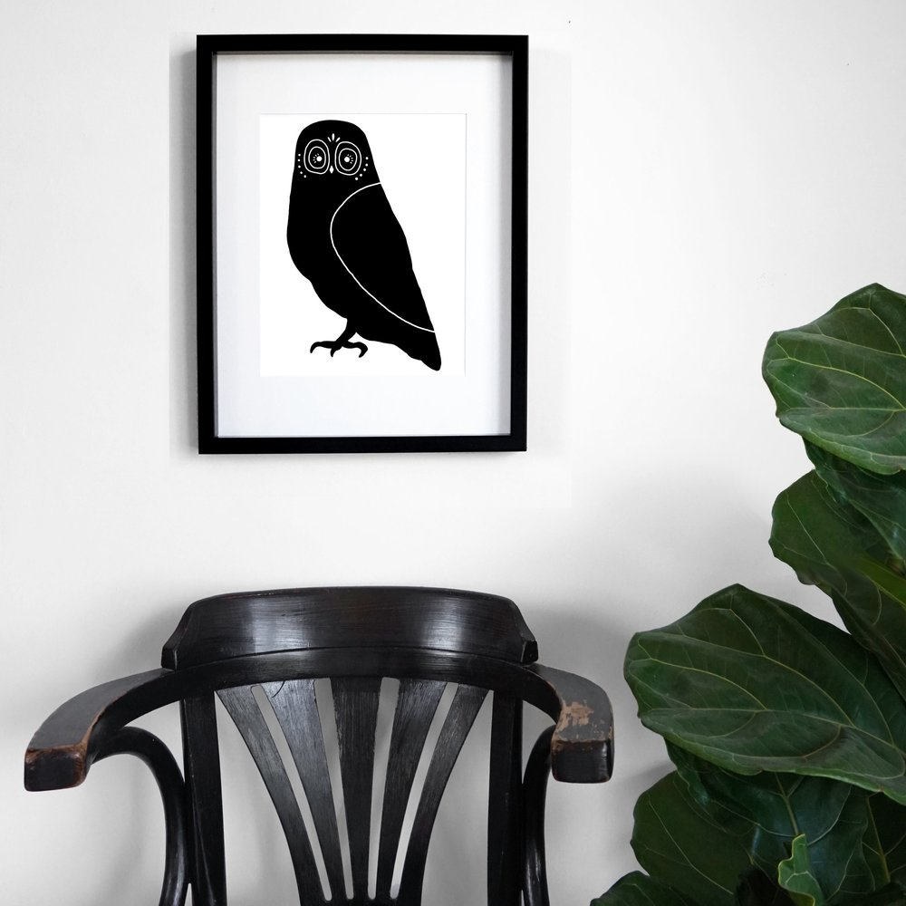 owl - black chair and fig frame edit.JPG