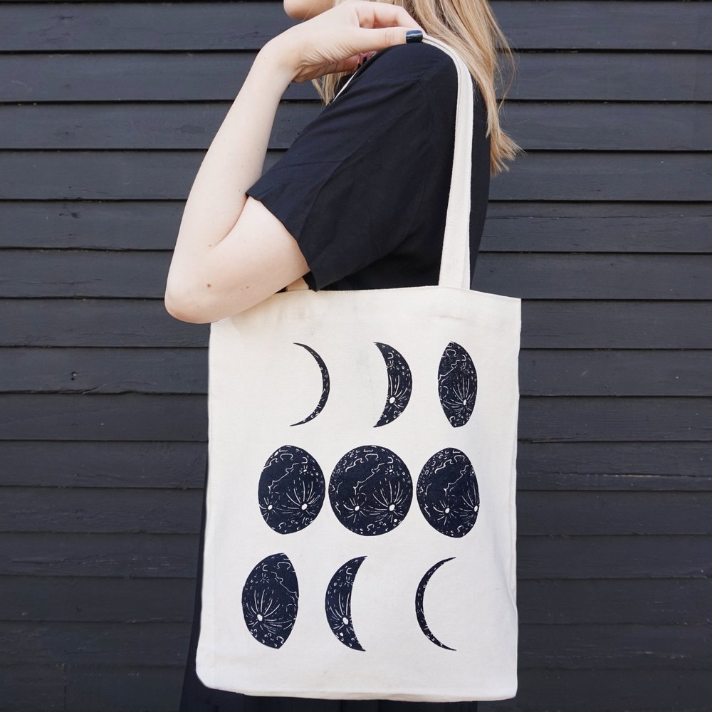 tote bag promo image moon black bd laruen.JPG