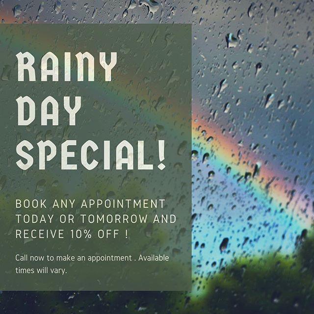 #rainydays #santamonica #rainbows #hairandnails #special