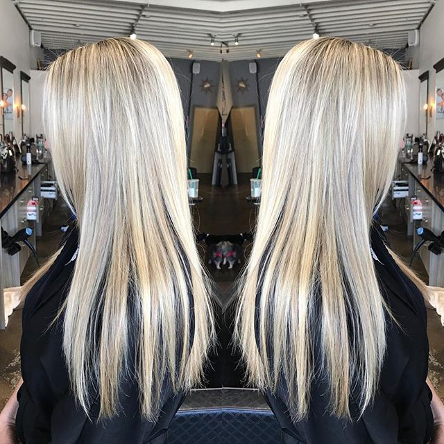 We do it all here , #haircut , #highlights, #Brazilian blowout , and a manicure ! #allinonesalon #santamonica #blondehair #besthaircuts #bestbalayage