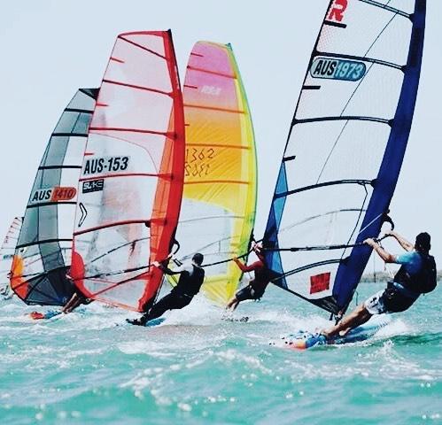 #australiannationals #raceboards #raceboardwindsurfing #royalqueenslandyachtsquadron #windsurfing pic - Dave Bell