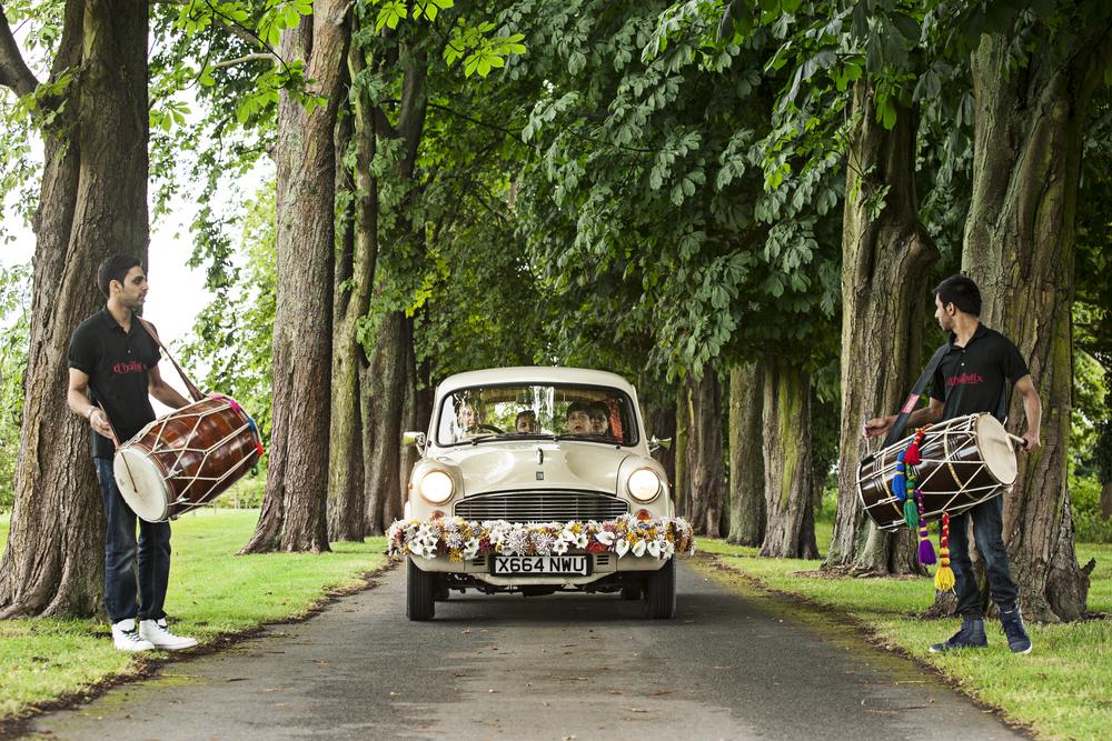 wilma-event-design-indian-wedding-ambassador-car