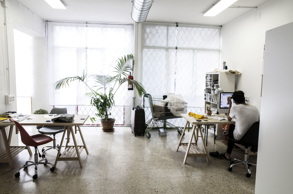 Bright, airy creative space