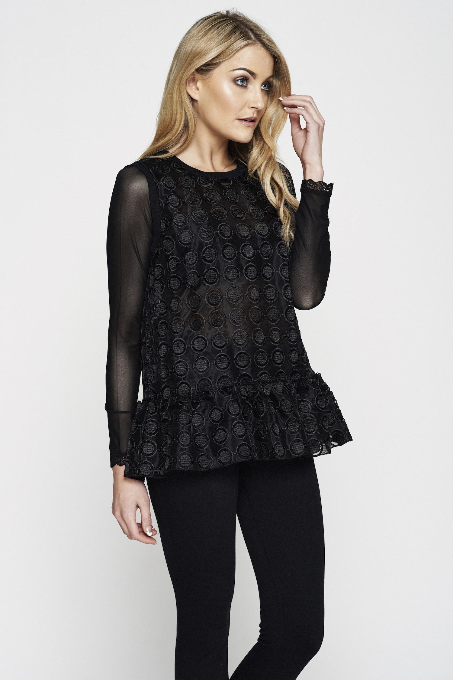 ca72292603db7 Sandz Black. Canopi Kerri Nicole0157 copy.jpg. Copy of Canopi Sandz  detachable secret sheer cover sleeves black lace trim