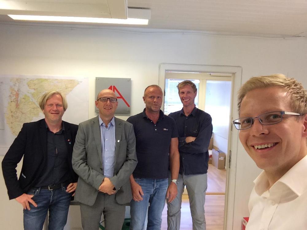 F.v.: Frode Fjeldsbø, Knut Underbakke, Jan Erik Sletten, Svein Olav Aalgård og Andrè Andreassen.