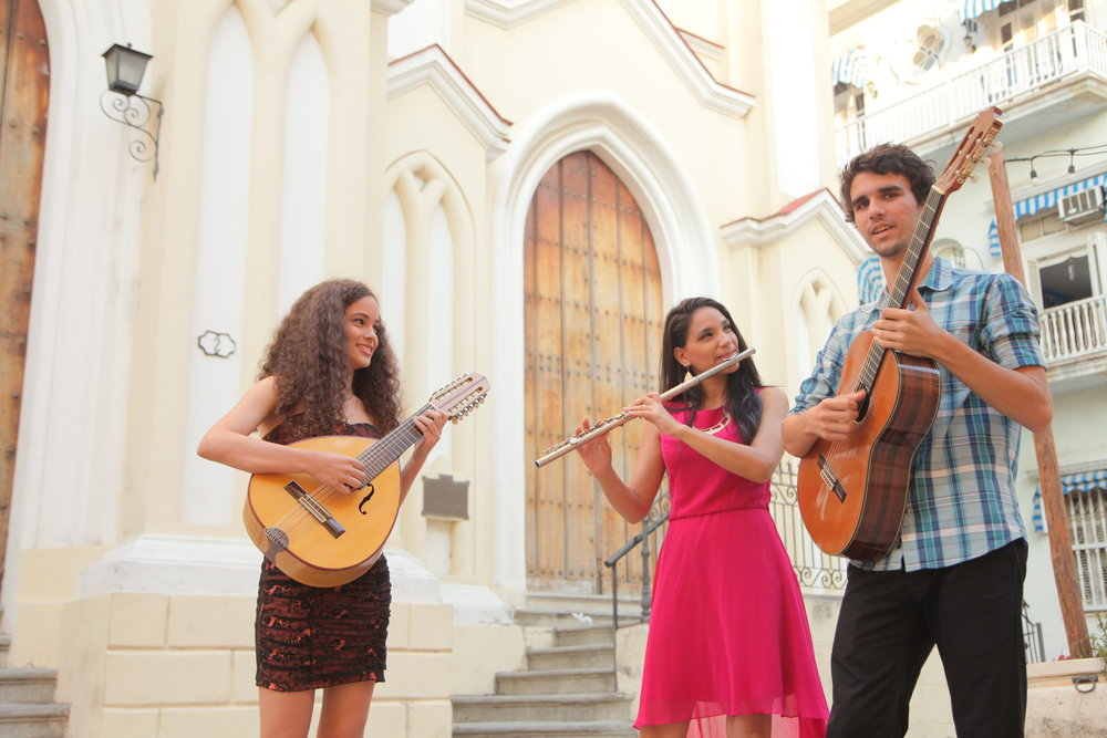 Trova tres are the young Cuban musicians participating in the talent project 2017.