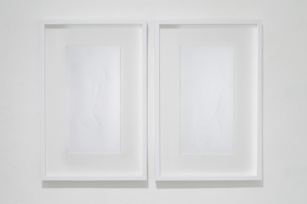 impressions (fa.Pearl) , Ana Omandichana, and Martaque, 2015 (paper), Galleria Continua,  San Gimignano / Beijing / Les Moulins / Habana. Photo by: Ela Bialkowska.