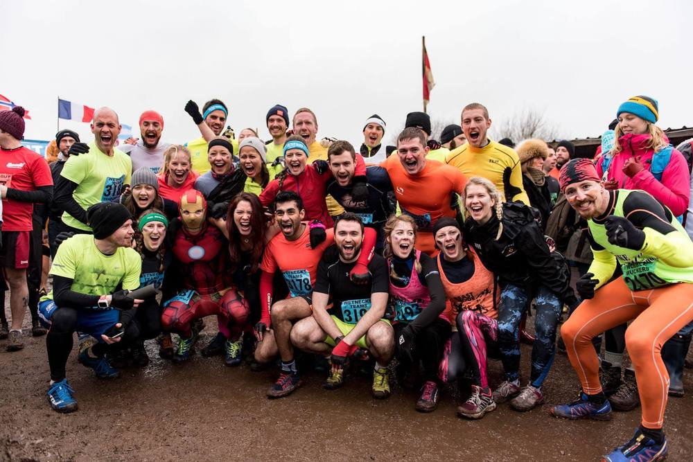 Project Awesome & Midnight Runners Team before the muddy start, January 2016