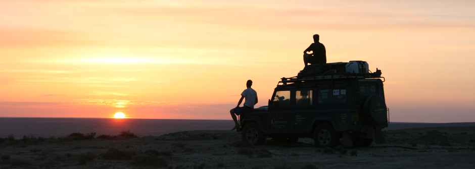 Looking out over the desert that now lies in place of the Aral Sea