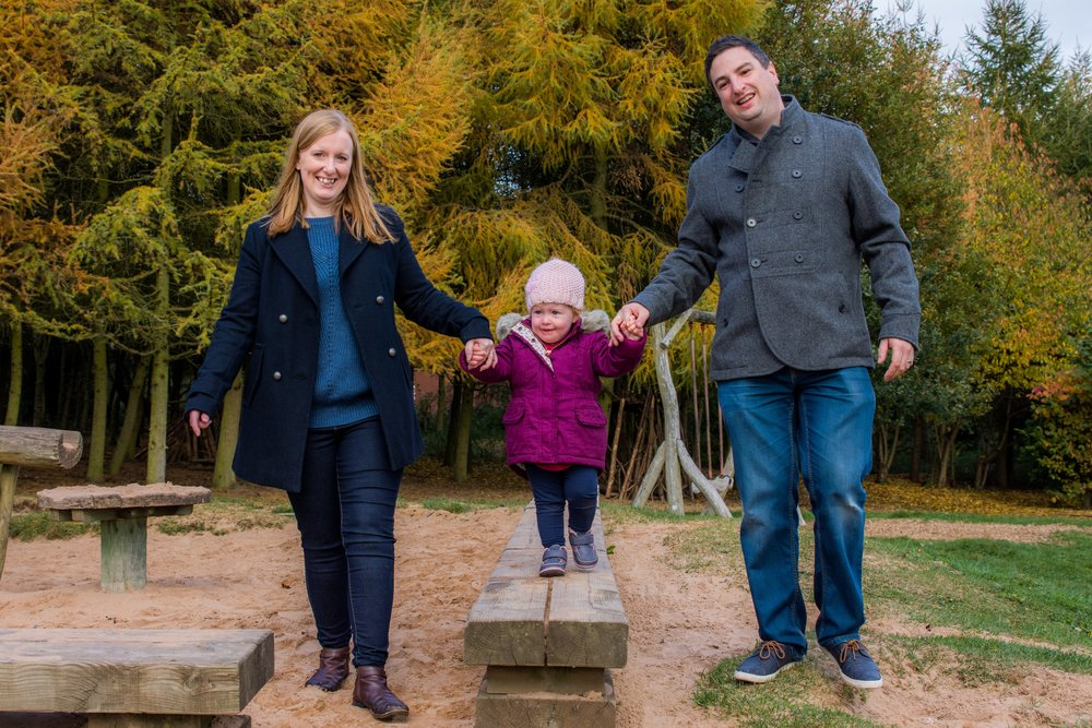 Pete, Amy & Lucy. Loving the children's play area. The autumn colours are amazing this time of the year.