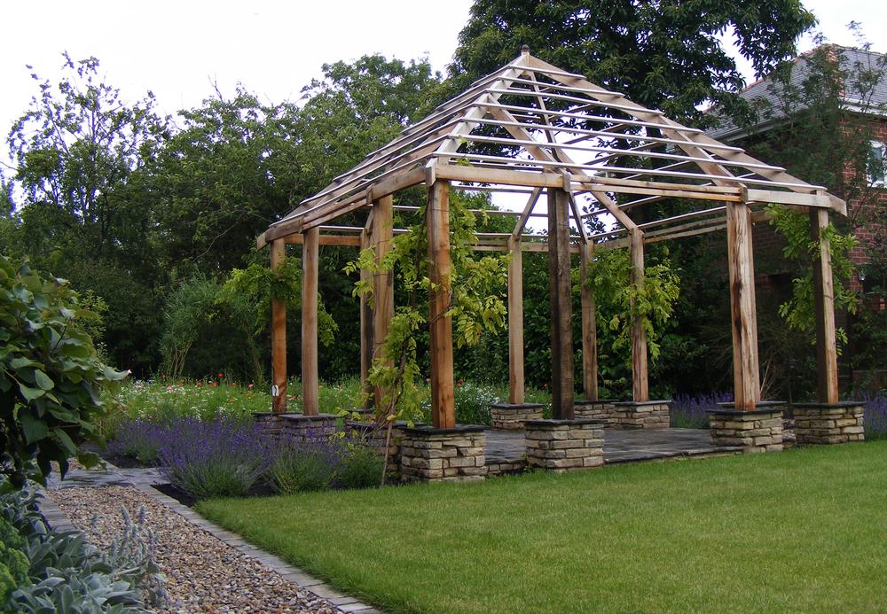 Side View of The Oak Pergola, Briarcroft