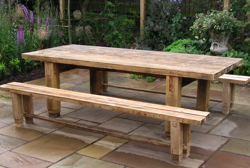 Chunky Outdoor Table & Benches