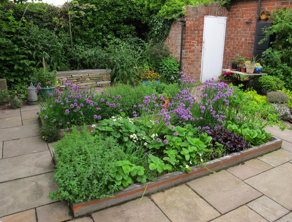 Herb Beds in the Kitchen Garden