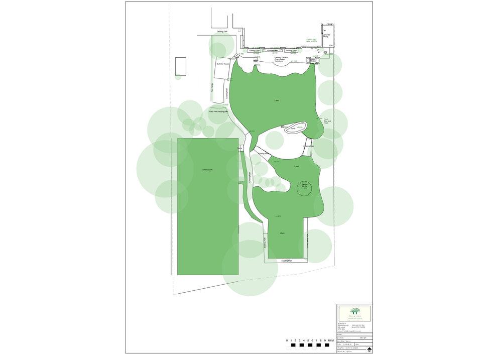 A Garden Survey Taken by Eves & Lewis Landscape Design