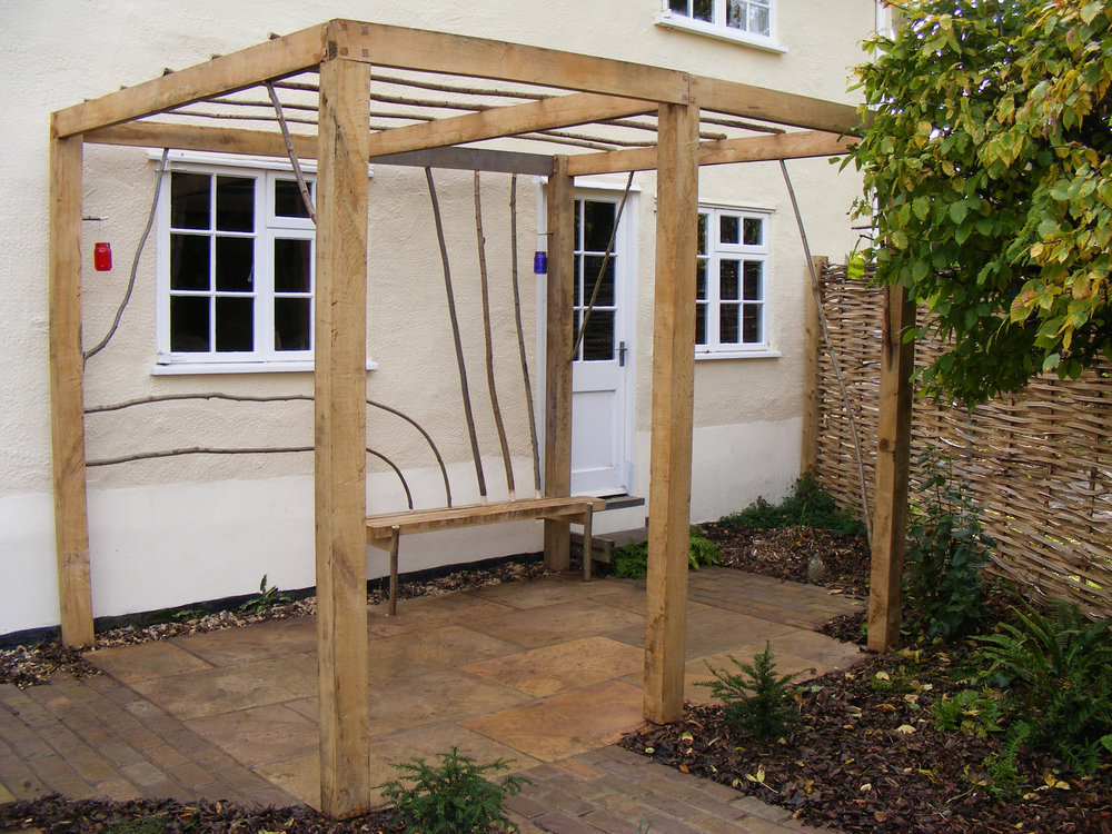 Green Oak Pergola, Abington Pigotts