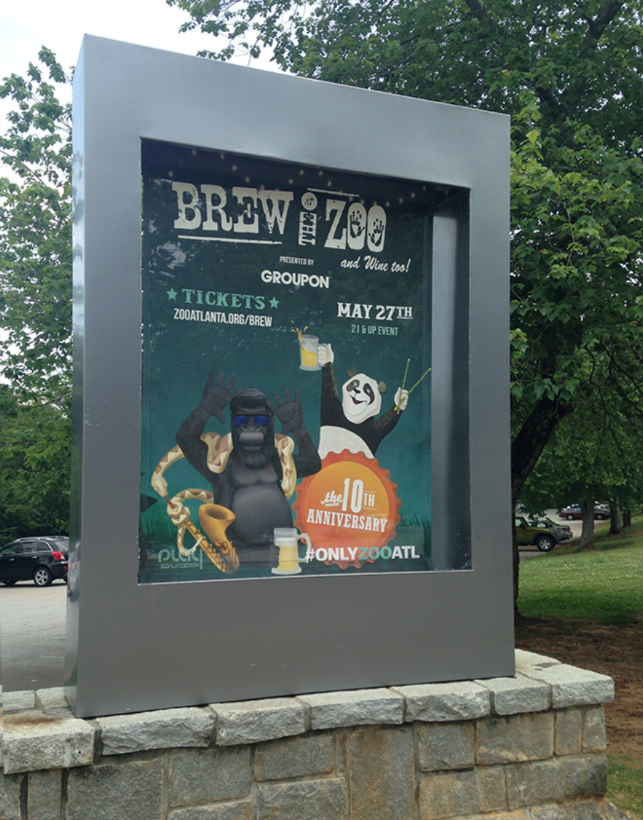 Brew at the Zoo banner, Zoo Atlanta.