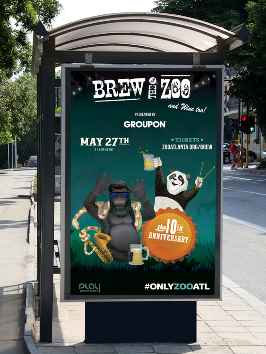 Brew at the Zoo ad, Marta