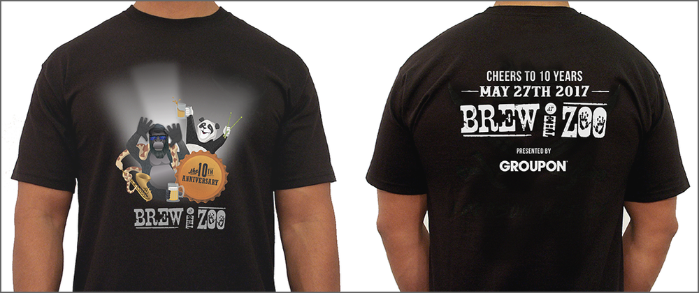 Brew at the Zoo TShirt designs