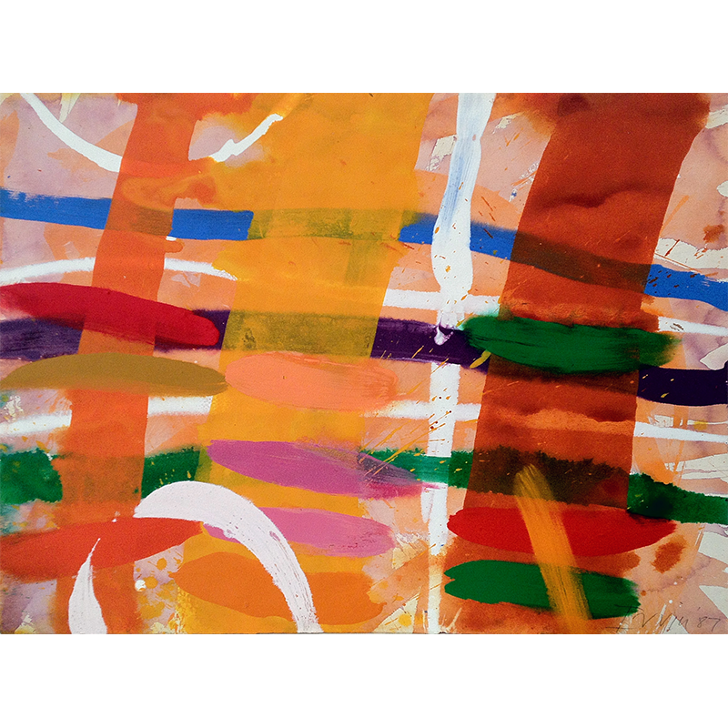 ALBERT IRVIN  RA (1922 - 2015) Avenue, 1978  on view at Maggie's Centre   Gouache on paper, 56 x 76cm  £6,000 Framed    ENQUIRE