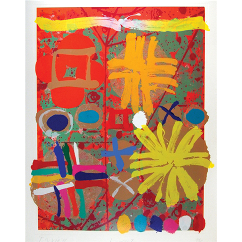 ALBERT IRVIN  RA (1922 - 2015) Kepler II  on view at Jesmond Dene House   Screenprint with woodblock, 146 x 113cm  POA    ENQUIRE