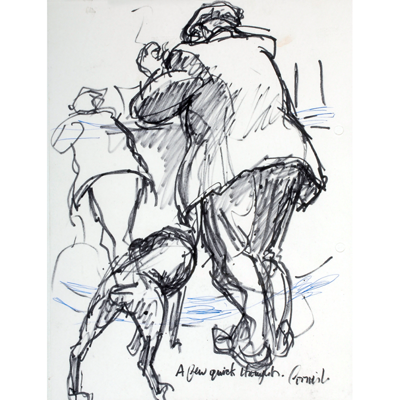 NORMAN CORNISH  MBE (1919 - 2014) A Few Quick Thoughts  on view at Jesmond Dene House   Flo-master pen on paper, 50.3 x 40cm  £3,200 Framed    ENQUIRE