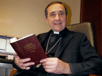 Msgr. Juan Ignacio Arrieta,  Secretary of the Pontifical Council for the Legislative Texts