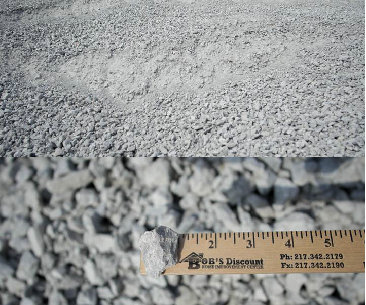 "CA-06 White Rock- This is a crushed stone product. It is a white rock stone that has been crushed down to 1"" with fines in it. The fines make this a very good choice when compaction is needed. This material is used for bases    under roads, and other areas where compaction is needed.     --Recommended for use as a base material under roads or concrete. Works    well for driveways and parking lots."
