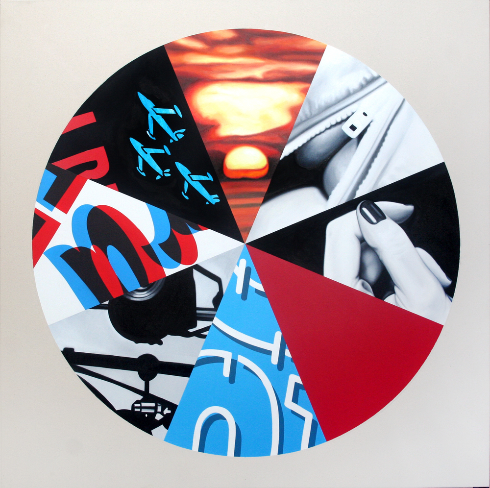 Sunset Circle Oil & Acrylic on canvas 120 x 120 cm