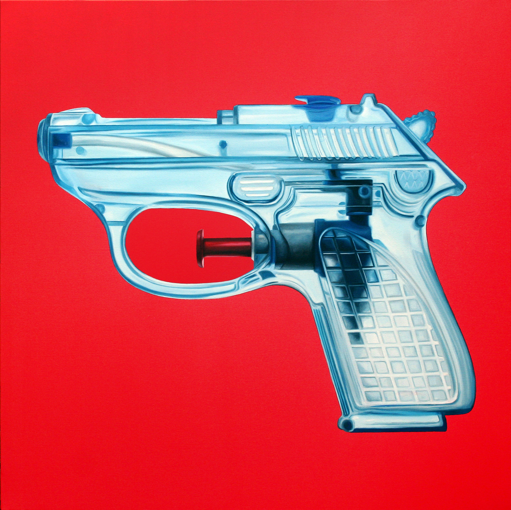 Blue semi auto Oil & Acrylic on canvas 100 x 100 cm