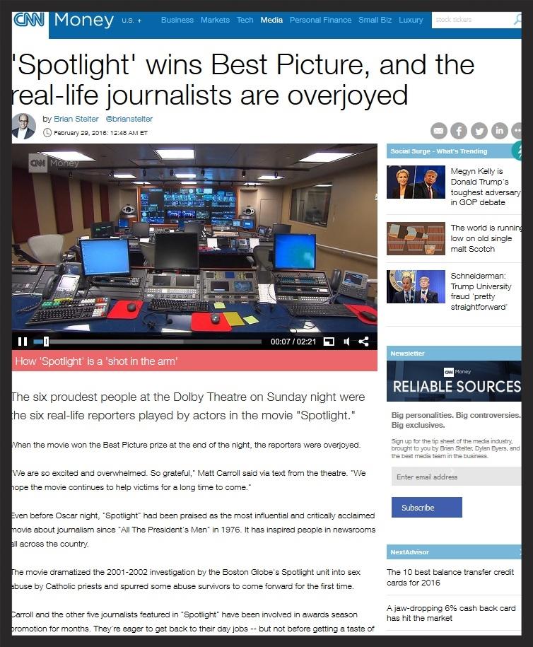 CNN - Real Journalists of 'Spotlight'