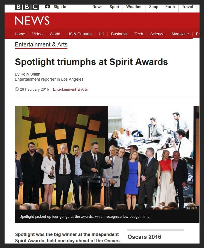 BBC - Spirit Awards