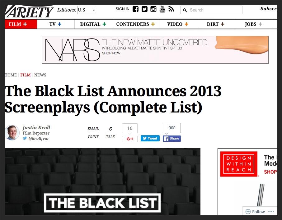 Variety - Black List