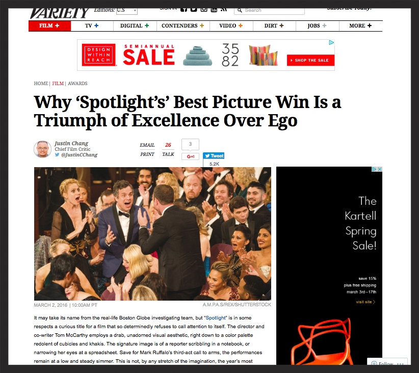 Variety - Triumph of Excellence Over Ego