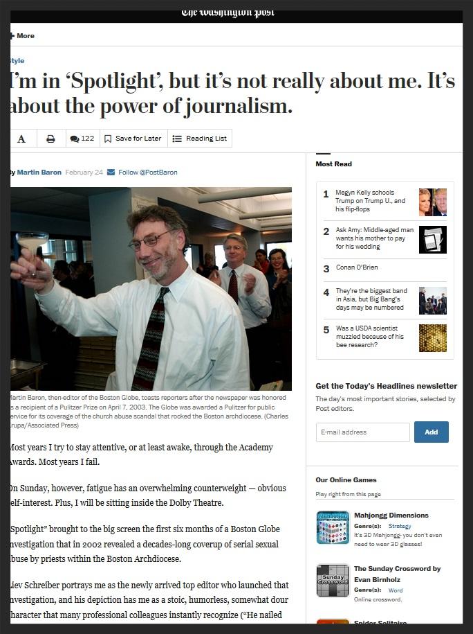 The Washington Post - Power of Journalism
