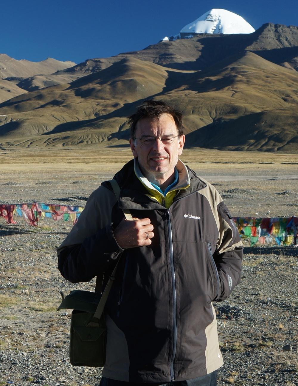 Colin Warren hiking in Tibet