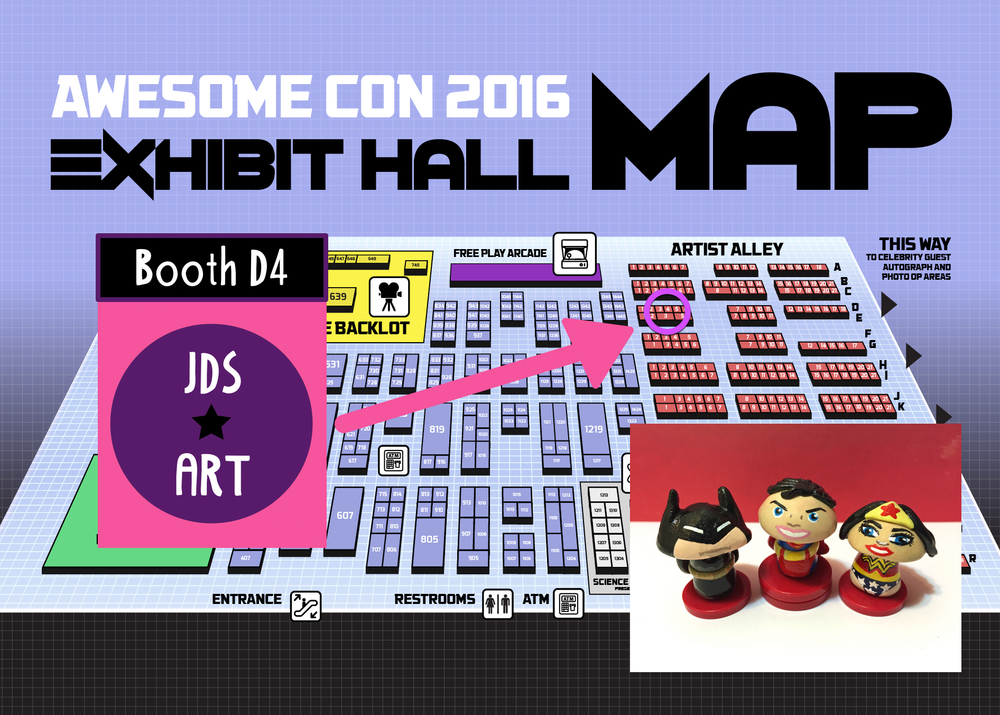 Look for me this weekend at Awesome Con DC!  I will be at Booth D4 in the Artist Alley <3