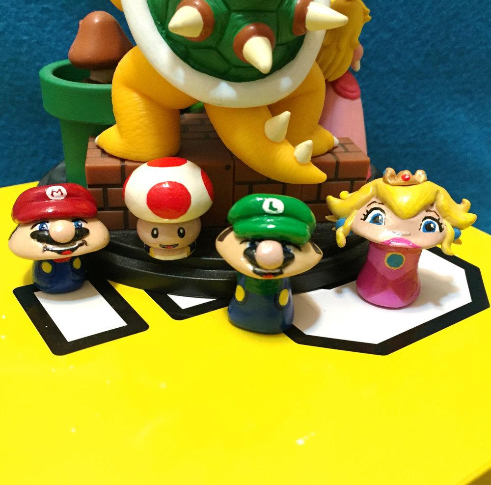 OOAK Super Mario Brothers-Inspired Mini Pop Culture \'Shrooms (3 ...