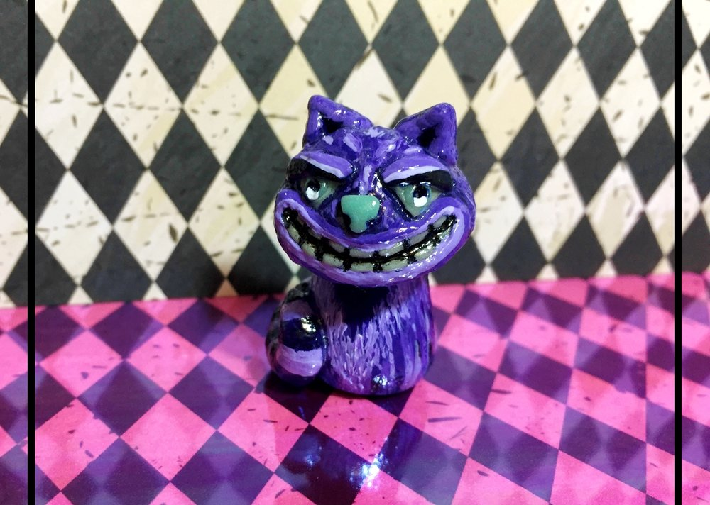 Cheshire Cat 'Shroom Sculpture