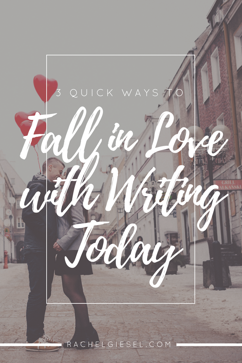 You love writing, but how often do you show it? Often, we just get so busy, and then you and your writing life hit a rough patch. But you can turn that around and strengthen your love simply by choosing to invest the time. You're the only one that can strengthen your relationship with writing. It starts by taking small, consistent actions each day. Here's three ways you can get started right now, today. These aren't new ideas you've never heard before. But they are tested and true ideas that work. It's up to you to choose to love writing. Will you do it? Click through to read the post and get started!
