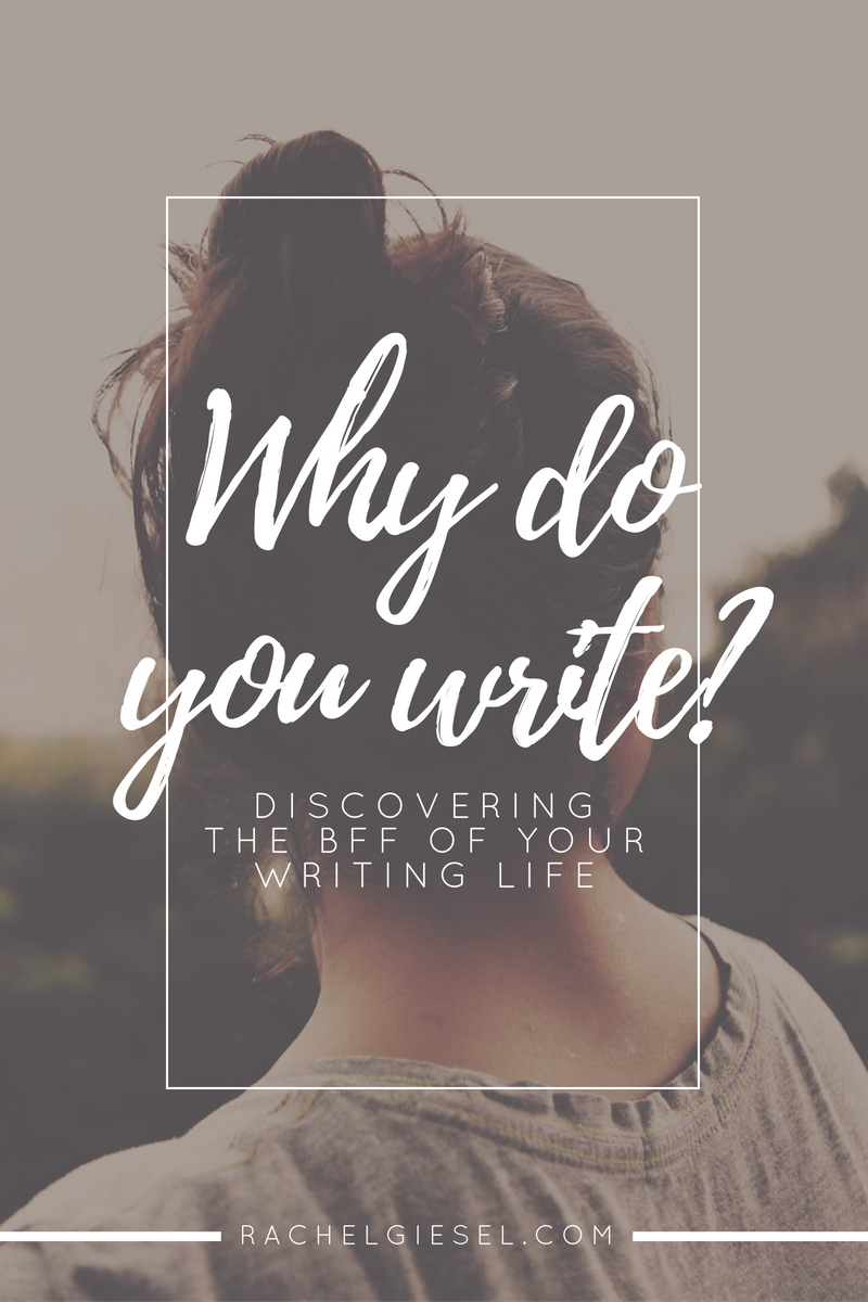If you're ready to take writing seriously, you have to know what you're doing; and, more importantly, you have to know why you're doing it. Your  why  will be there to give you energy to start, it will comfort you and keep you going when you slog through the middle, and it will pull you up and dust you off when you crash. Your  why  is basically your BFF as a writer. Have you ever stopped to consider  why  you write? There's a history of writer's exploring their reasons and motifs. Click through to learn all about it and discover your own  why  in this post! (+ There's a FREE pretty printable for you!)