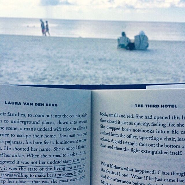 "Current mood: beach vibes. It's so perfect down in Southwest Florida! Also, I'm loving ""The Third Hotel"" by Laura van den Berg!  #vacation #amreading #bookstagram #writelife #writersofinstagram #reading"
