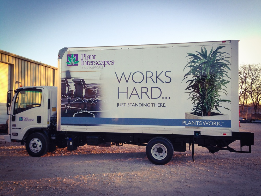 Plant Interscapes Box Truck Wrap