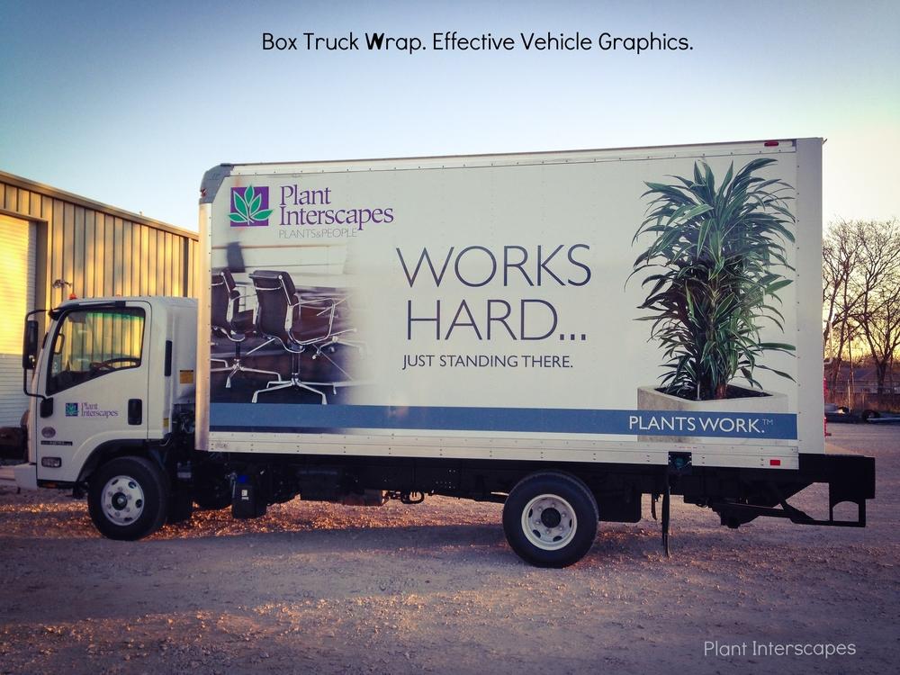 Plant Interscapes Box Truck Wrap