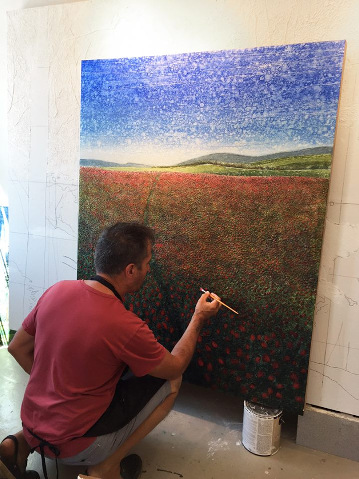 """Field of Tulips"" (4' x 5')"