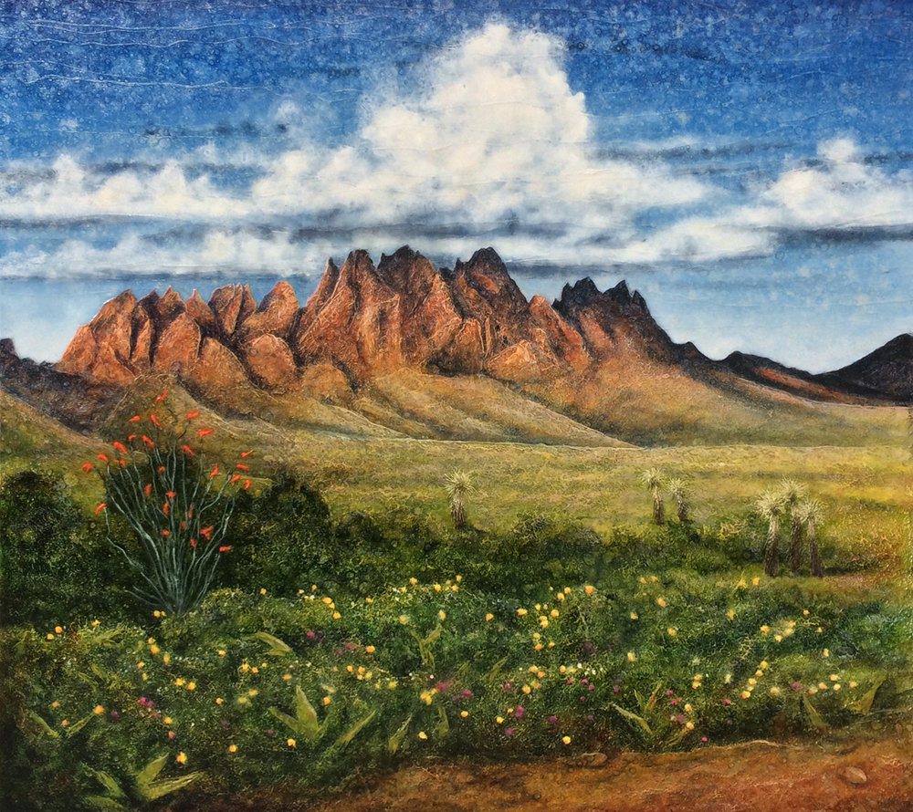 """The Organ Mountains"" (45"" x 49"")"