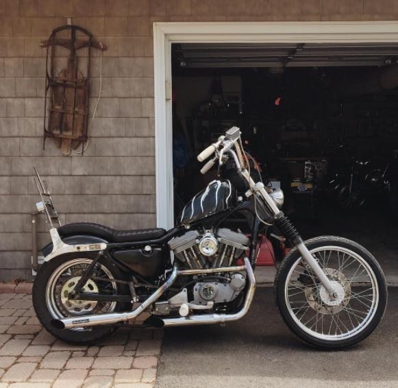Dan's chopped Harley Davidson Sportster