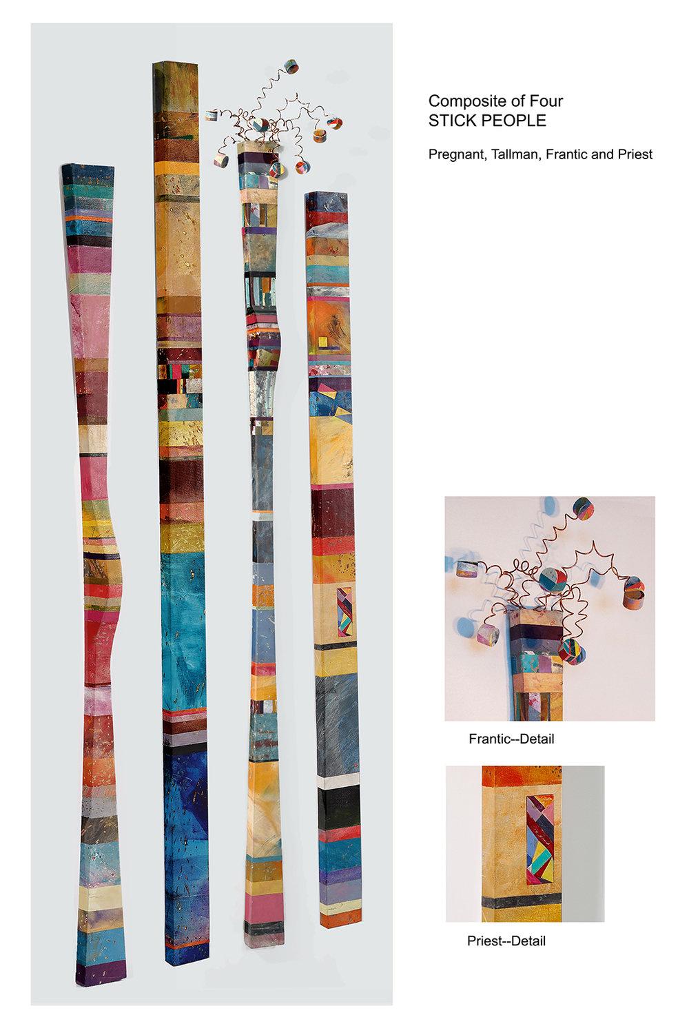 Composite of Four People Sticks