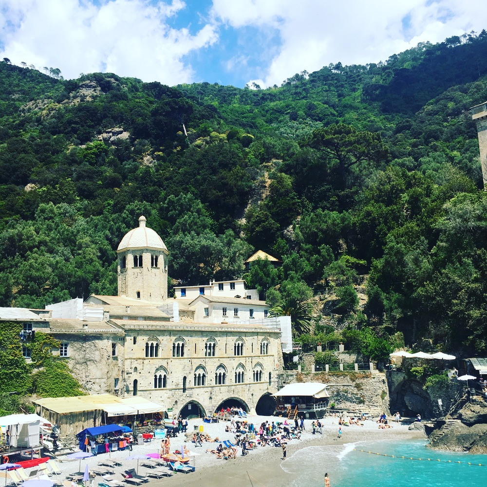 San Fruttuoso Abbey can only be reached by foot or boat.